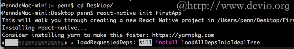 react-native-init